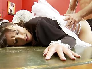 Naughty Horny Maid Gets Fucked Hard by her Boss with Big Cock
