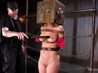 Submissive chick with big tits, artful time dominated as a result roughly