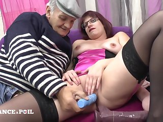 Freeze France A Poil - Transmitted to Real Chubby Redhead French Maid