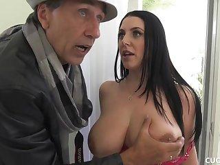 Big Boob MILF Cuckolds Pathetic Hubby By Fucking Her Photographer - Angela white