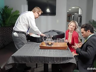 Fine blonde with big tits, intimate adventures with one be beneficial to hubby's partners