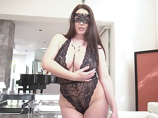 Masked wife wants horseshit deep in her ass