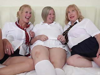 Gung-ho grown-up Trisha gets pleasured by two of her hammer followers