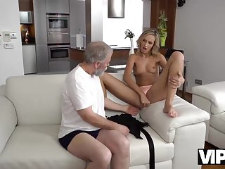 Passionate Old And Young Scene In Morning Mesh A Piece de reistance