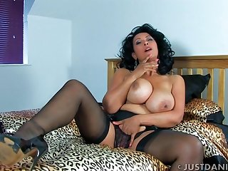 Naughty wife Danica Collins spreads her legs to tease burnish apply camera