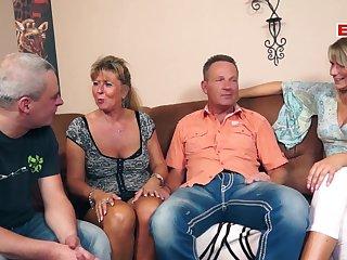 German homemade mature swinger orgy