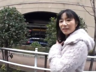 Passionate fucking in POV video at hand a horny Japanese stranger