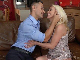 Still rather hot mature blonde whore Szandi wanna ride strong cock