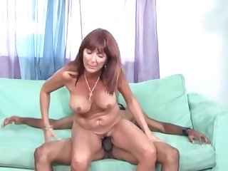 Mellow breasty latino mature lady performing in handjob XXX video