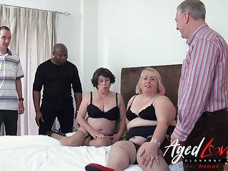 Horny Of age Sluts Orgy - Three Guys versus Two Raunchy Ladies