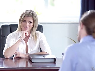 Unforgettable sexual congress in the office with smoking hot female boss Cory Chase