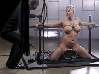 Short haired blonde MILF Ryan Keely deserves some hardcore BDSM charge from at the present time