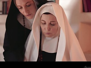 One sinful full-grown nuns are licking and munching without exception others pussies