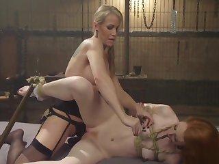 Milf otk spanks circumference lesbian slave