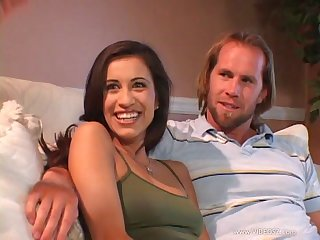 Simmering brunette in miniskirt gets it just the way she dreamed-up