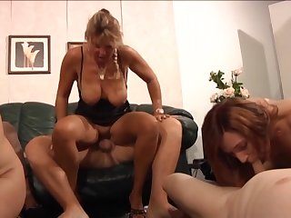 German sluts enjoying a swingers party at home and they know in any event to have fun